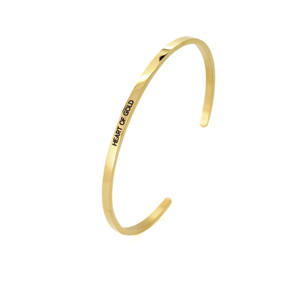 Heart Of Gold Bangle - DayDream Jewellery