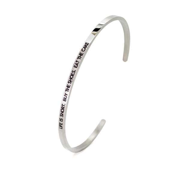 Life Is Short Bangle - DayDream Jewellery