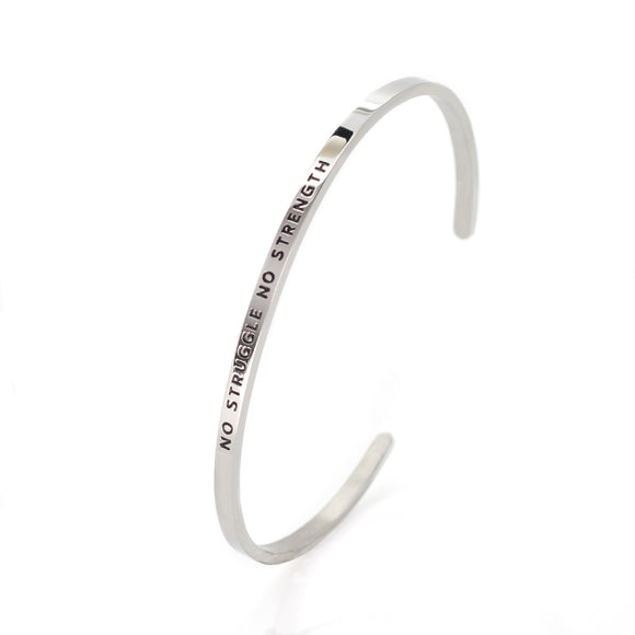 No Struggle No Strength Bangle - DayDream Jewellery