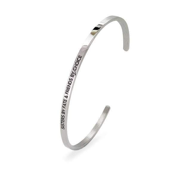 Sisters By Fate & Friends By Choice Bangle - DayDream Jewellery