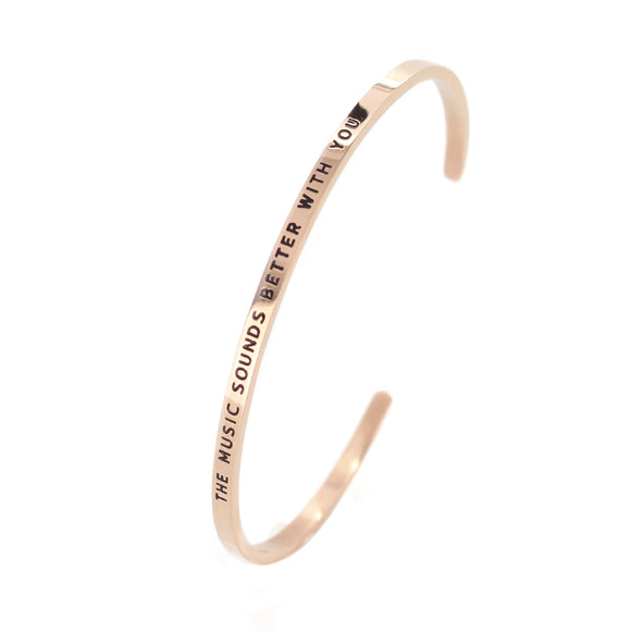 Rose Music Bangle - DayDream Jewellery