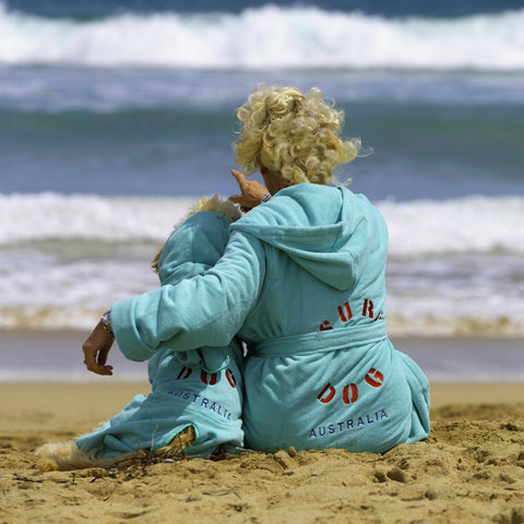 Surf Dog Beach Robes Adult and Kids Towelling robes