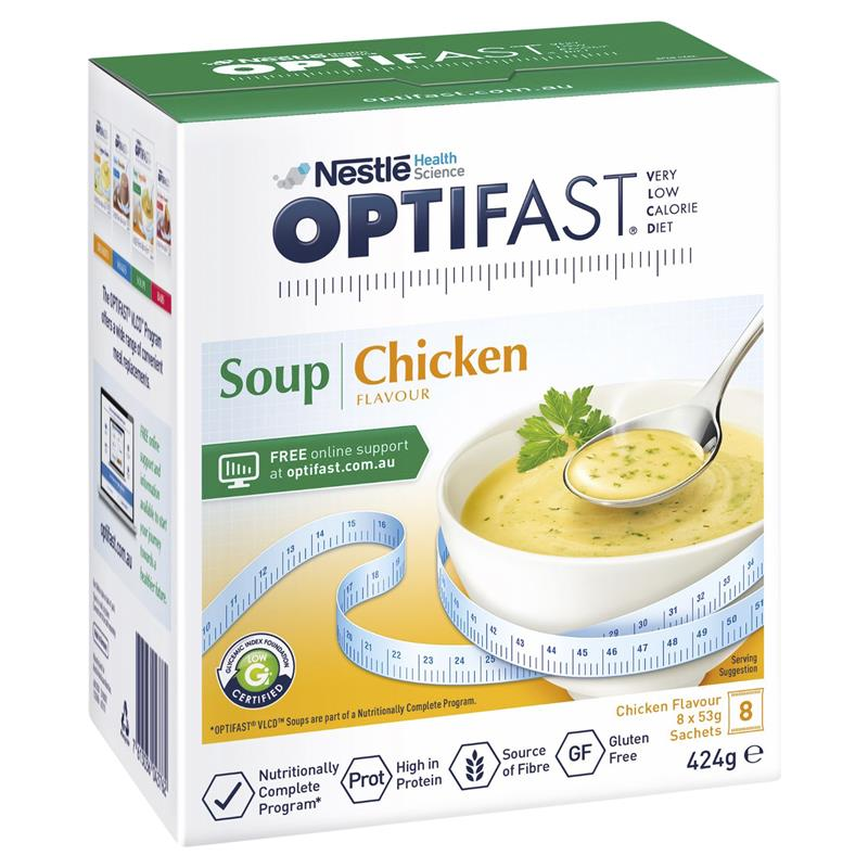 Optifast VLCD Chicken Flavour Soup x 8