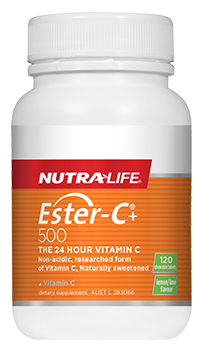 Nutra Life Ester C 500mg Lemon & Lime Chews 120