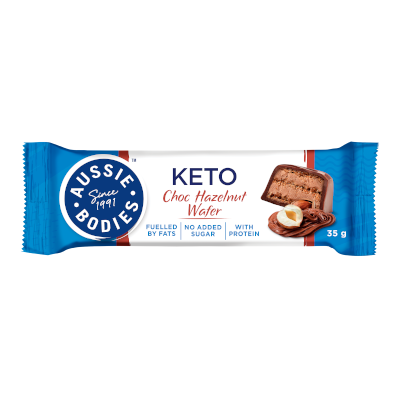 Aussie Bodies Keto Choc Hazelnut Wafer Bar 35g
