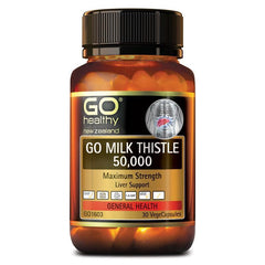 Go Healthy Milk Thistle 50,000mg 30 Vege Capsules