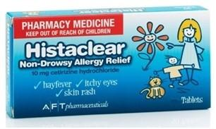 Histaclear 10mg 30 Tablets
