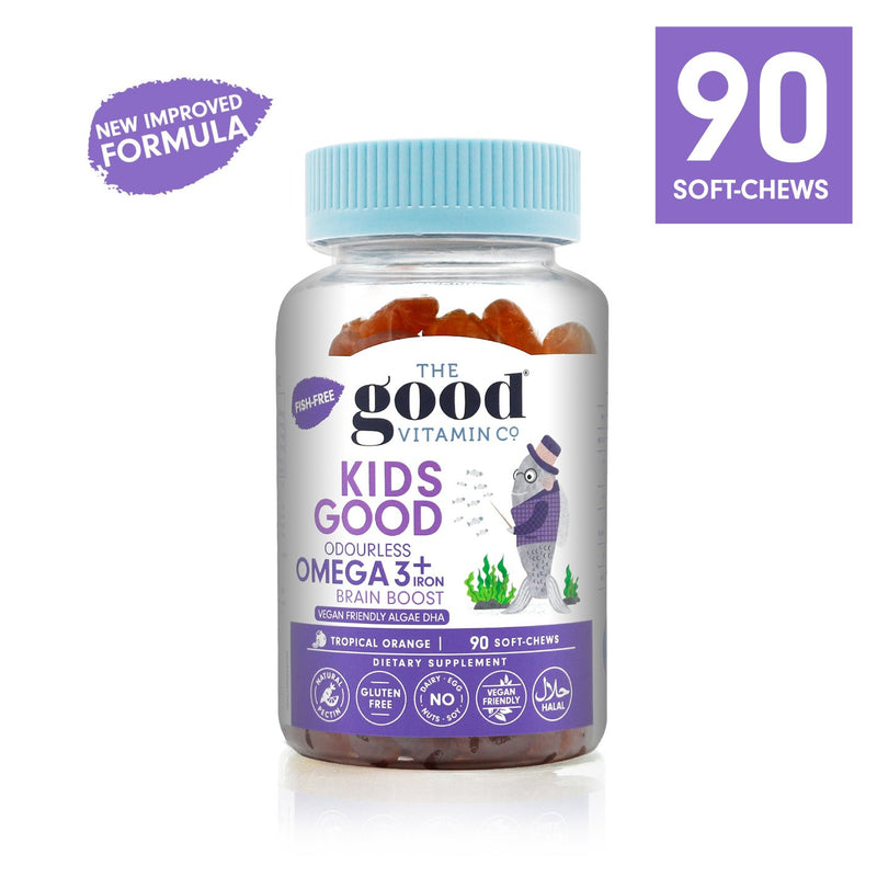 Good Vitamin Co Kids Odourless Omega 3 + Iron 90s