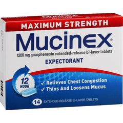Mucinex Maximum Strength Tablets 14s