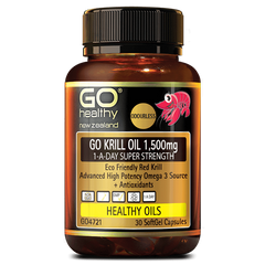 Go Healthy Krill Oil 1500mg 30s