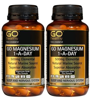 Go Healthy Go Magnesium 1-A-Day  TWO FOR THE PRICE OF ONE DEAL