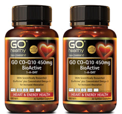 Go Healthy CoQ10 450mg BioActive 1 A Day 30s 2 FOR THE PRICE OF 1!