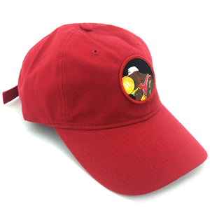"""Crying Jordan"" Hat (red) - A.M. VINTAGE"
