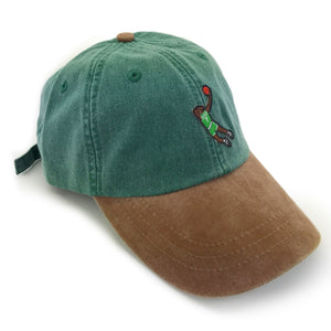 """Dab Brown"" Hat (green/brown) - A.M. VINTAGE"