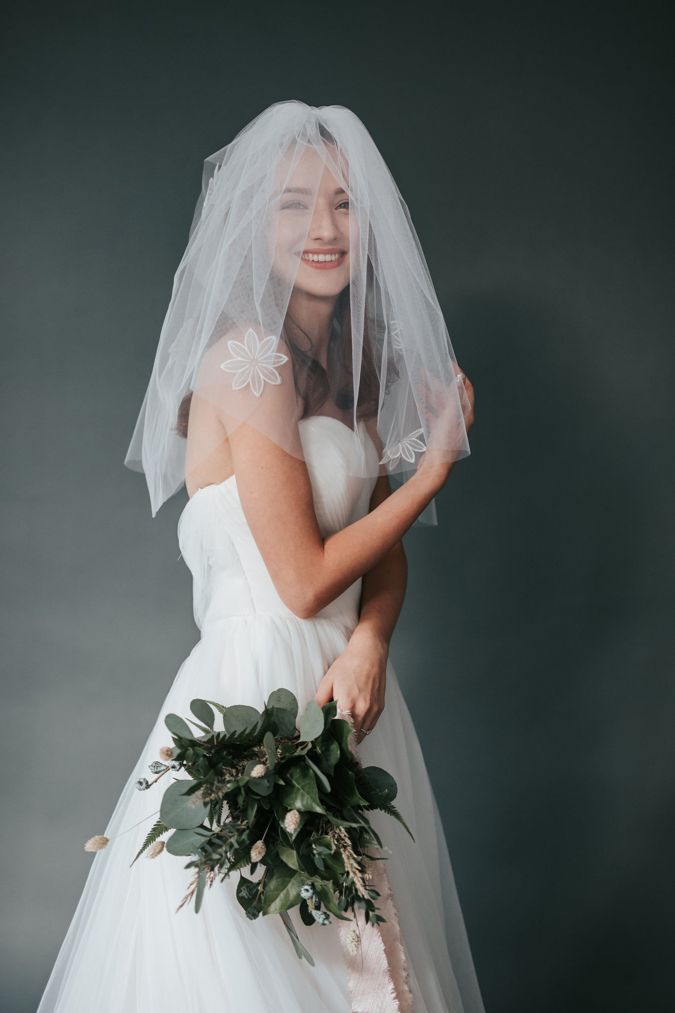 Double Layered Floral Veil (No.14)