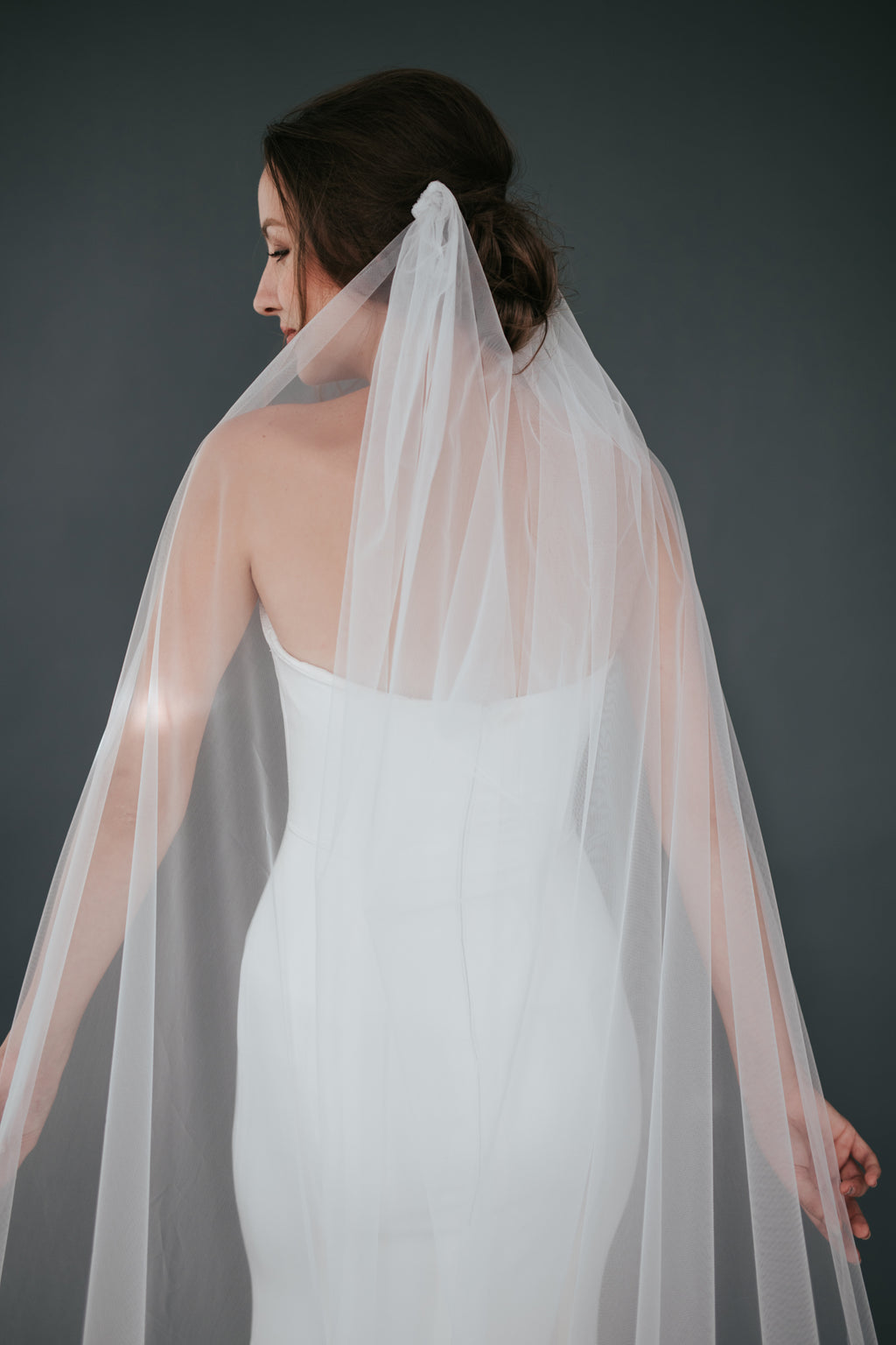 Cathedral Draped Veil with Swarovski Crystals (No.13)