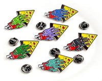Zombie Hand Pizza Slice Enamel Pin
