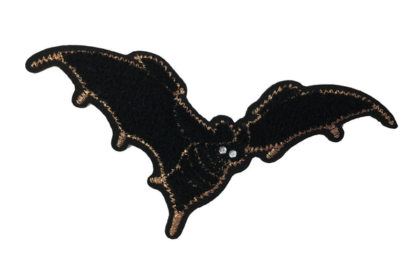 Bat Embroidered Iron-On Patch