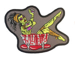 Bloodbath Zombie Girl Embroidered Iron On Patch