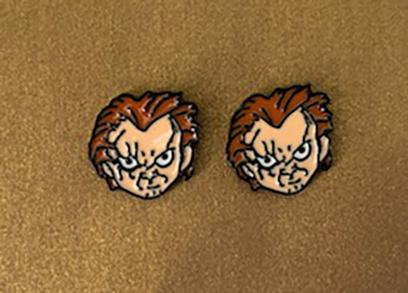 chucky earrings childs play earrings horror earrings