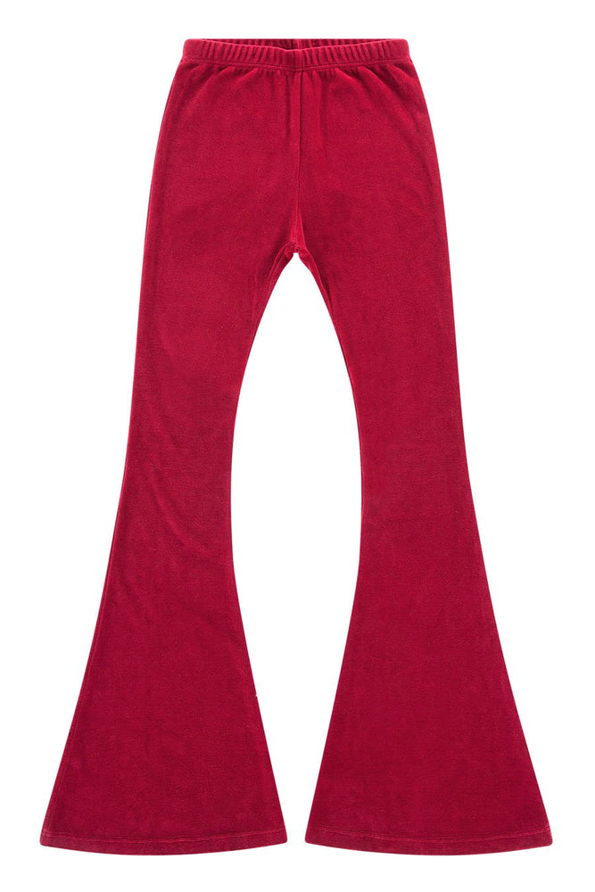 LDC VELOUR PANTS - RUBY