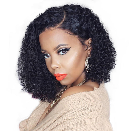 Good Qearl Glueless 360 Lace Frontal Wig Natural Red 99j Ombre Color Remy Human Hair Wigs Kinky Curly Style 360 Lace Front Wigs Fast Color Human Hair Lace Wigs Lace Wigs