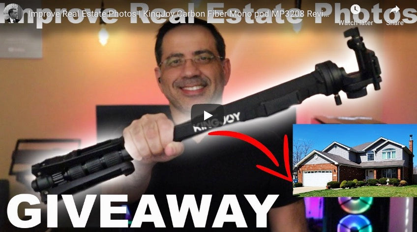Improve Real Estate Photos | KingJoy Carbon Fiber Mono pod MP3208 Review and Giveaway!