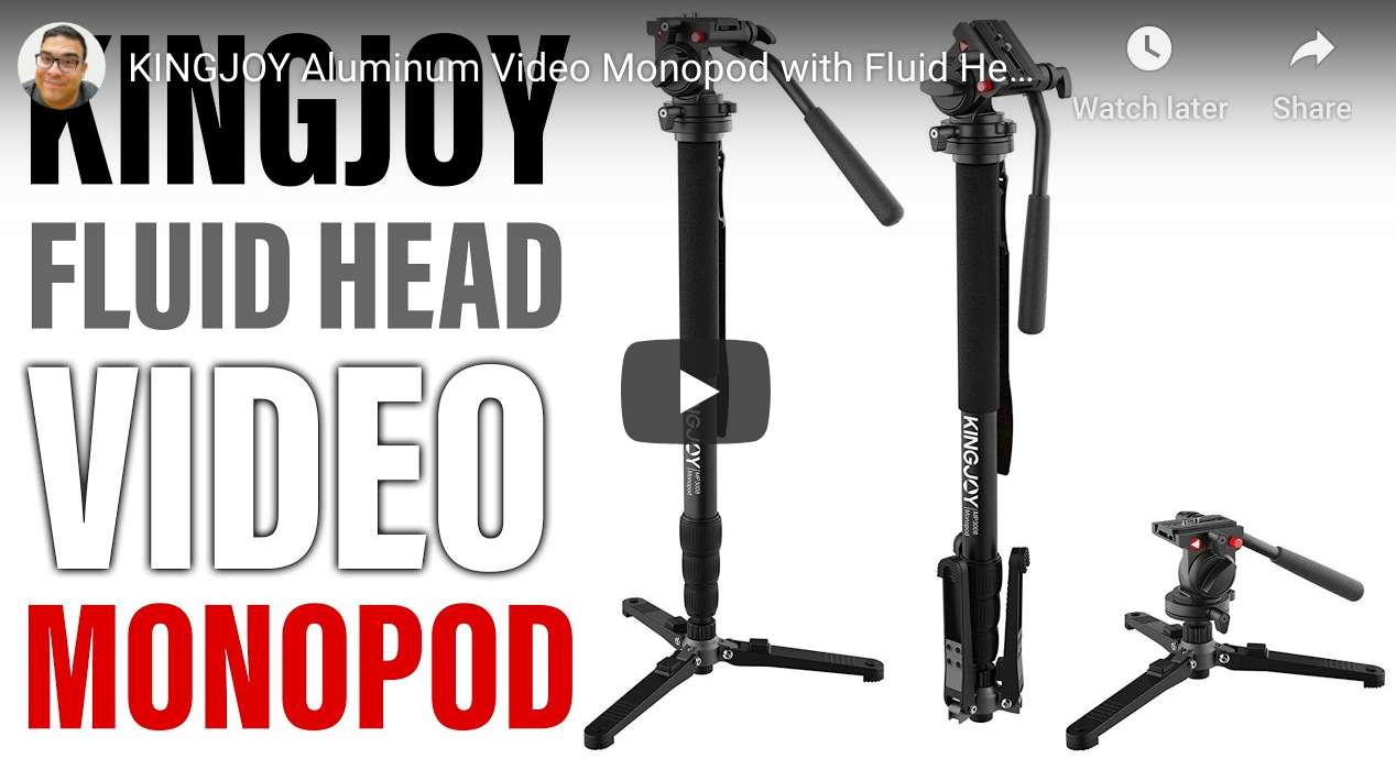KINGJOY Aluminum Video Monopod with Fluid Head Review (MP3008+KH-6750)