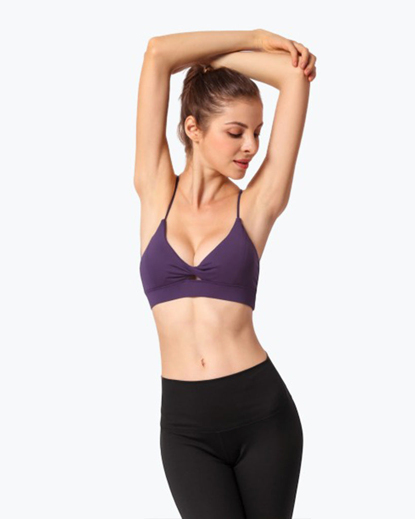 cross beauty back sexy sports bra  without steel - GLENDA