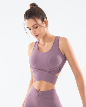 Individual Sleeveless Quick-Drying Vest Sports Bra - GLENDA