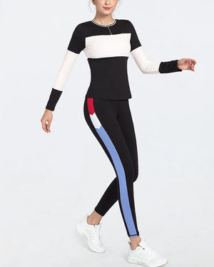 GYM SEXY YOGA SPORTS PATCHWORK SUIT - GLENDA
