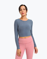 Gym  beauty back cross with chest pad  long-sleeved female - GLENDA