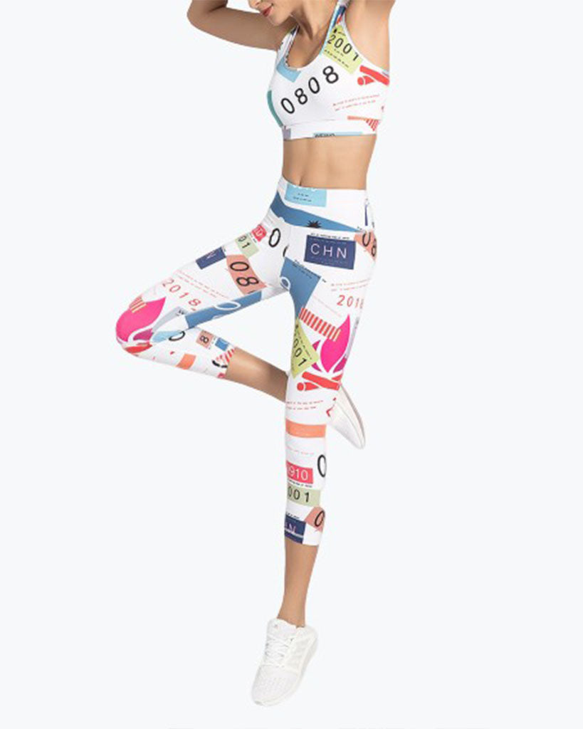 GYM SEXY YOGA PRINTED SUIT WOMEN - GLENDA