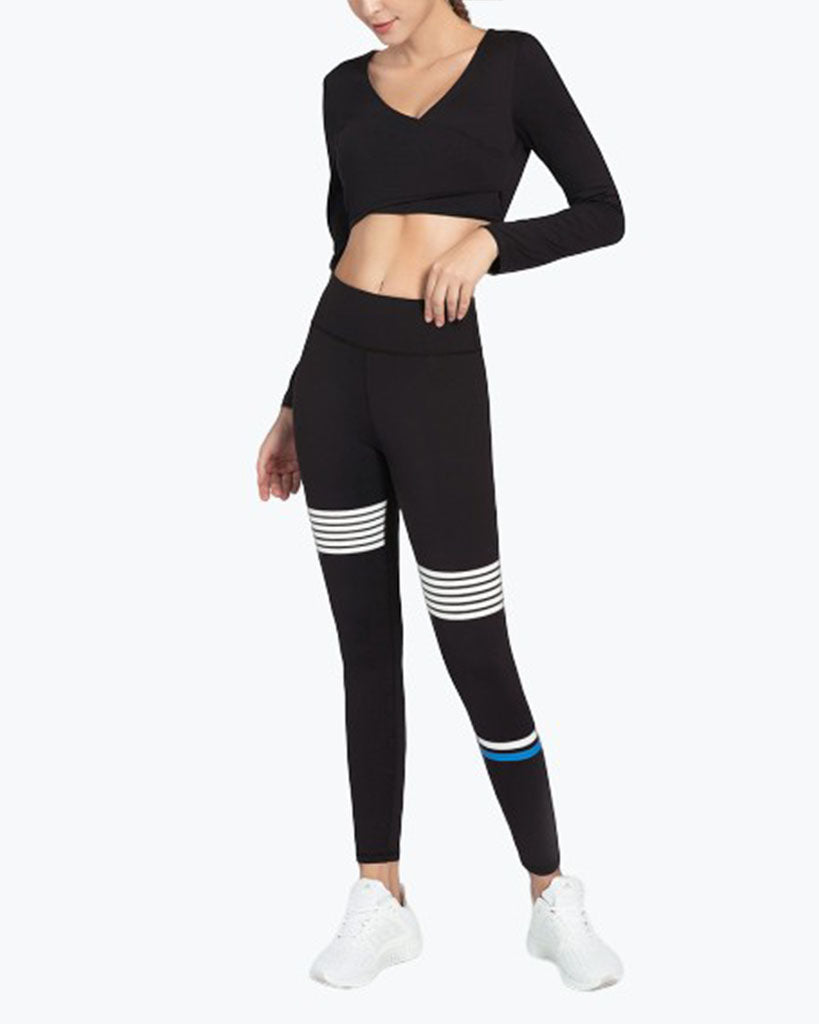 GYM SLIM FIT HIP LEGGINGS SPORTS BRA SUIT - GLENDA