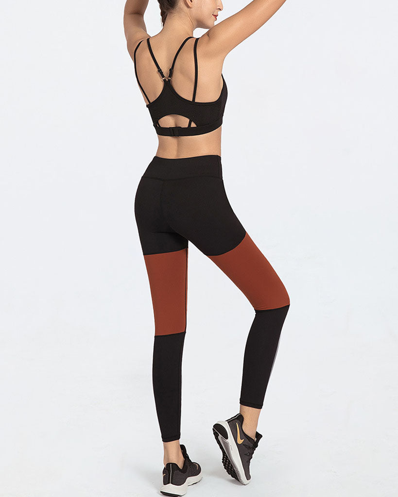 GYM SEXY SPORTS BRA AND HIGH WAIST PANTS - GLENDA