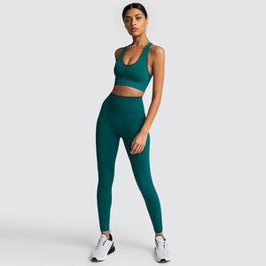 Gym Seamless fitness set nylon ladies sportswear - GLENDA