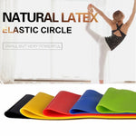 GYM Yoga Resistance Rubber Bands Indoor Outdoor Fitness Equipment  Pilates Sport Training Workout Elastic Bands - GLENDA