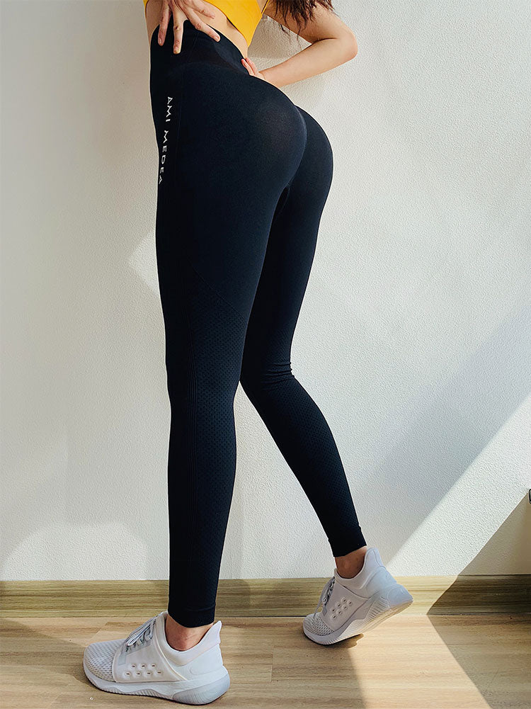 Tummy Control Yoga Pants Women Seamless Leggings Gym Tights Leggings - GLENDA