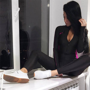 GYM TRACKSUIT SEXY ENSEMBLE YOGA SUIT - GLENDA