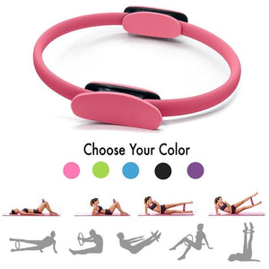 Gym Professional Yoga Circle Pilates Sport Magic Ring Women Fitness Kinetic Resistance Circle Gym Workout Pilates Accessories 4Color - GLENDA