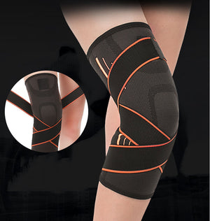 Bandage Sports Knee Pads,Pressure Anti-skid Knee Protector,Fitness Cycling Voleyball Breathable Knee Brace Suport - GLENDA