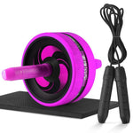 Gym  Ab wheel and skipping rope noiseless belly wheel Ab wheel with cushion - GLENDA