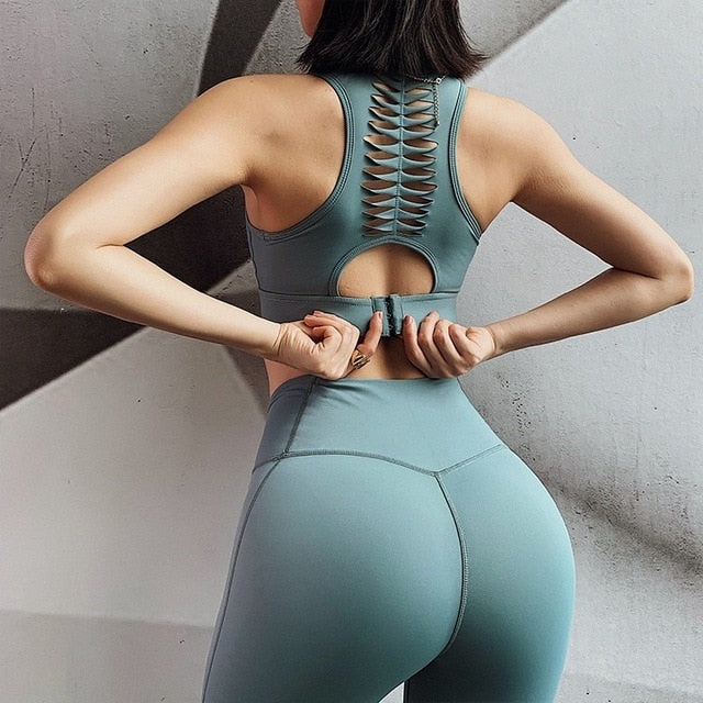 SEXY SPORTS BRA FITNESS PANTS SET - GLENDA
