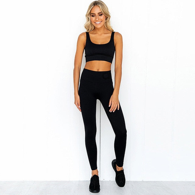 Gym Set Workout Clothes for Women Sports Bra and Leggings Set - GLENDA