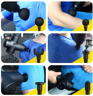 Professional Fascia Gun Muscle Massage Gun Electric Muscle Relaxer Fitness Shock Gun Deep Vibration Relaxation Gun gym equipment - GLENDA