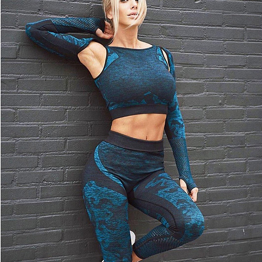 GYM PRINTING SEXY WORKOUT SET - GLENDA