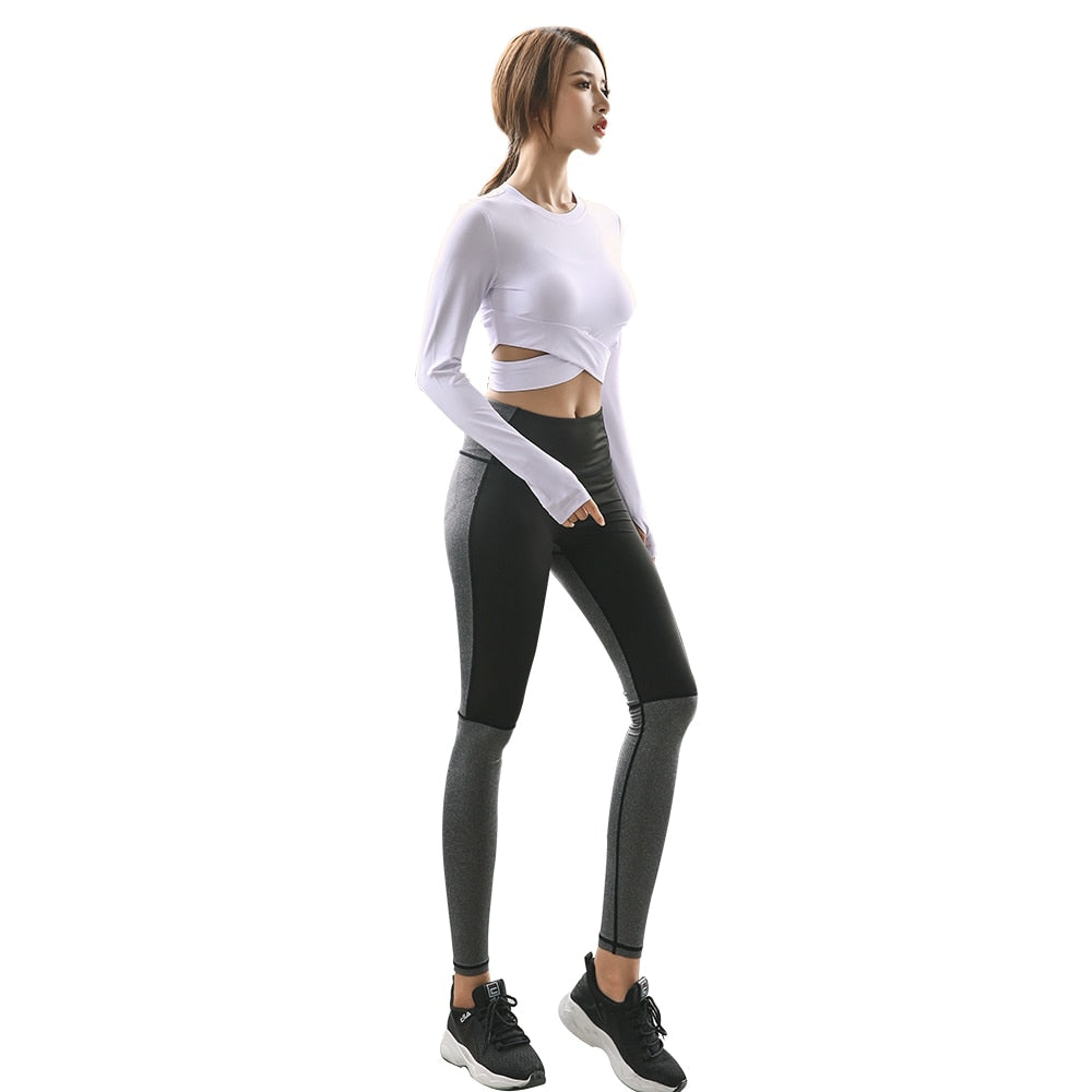 WOMEN SLIM FIT YOGA SPORTSWEAR SUIT - GLENDA