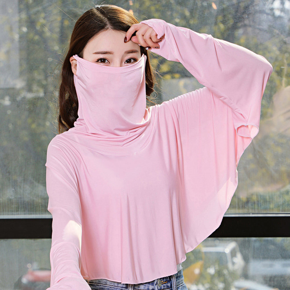 Women Quick Dry Sun Protection Clothing  With Face Mask New coronavirus protective clothing - GLENDA