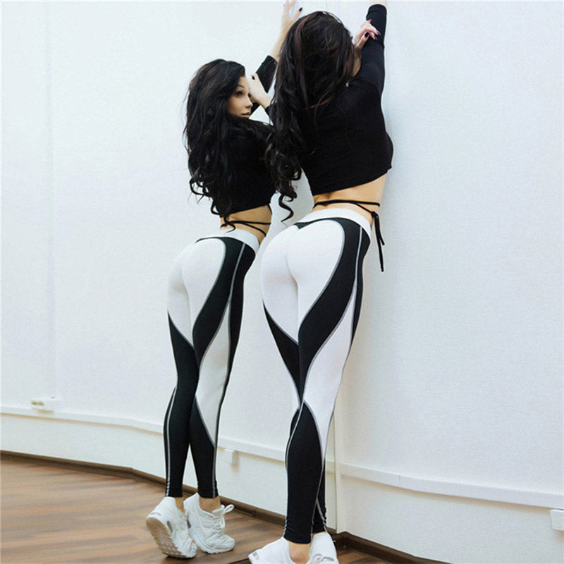 Gym Heart tights Sexy High Waist Workout Leggings For Women - GLENDA