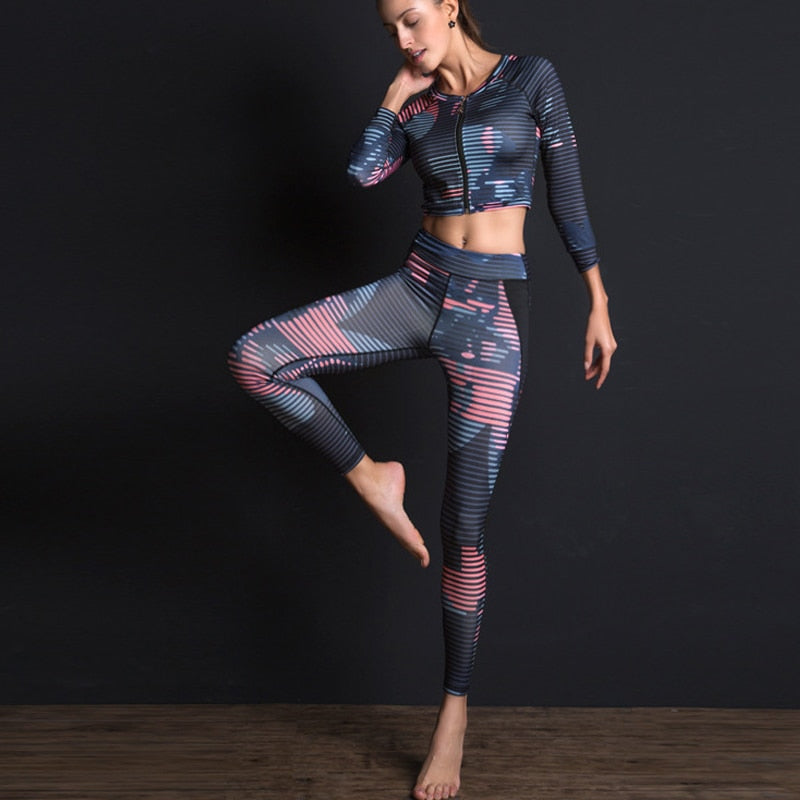 2020 NEW WOMEN PRINTING SPORTS SET - GLENDA